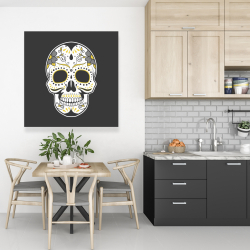 Canvas 36 x 36 - Mexican sugar skull art
