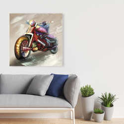 Canvas 36 x 36 - Abstract motorcycle
