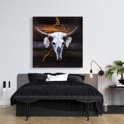Canvas 36 x 36 - Hanged bull skull