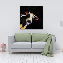 Canvas 36 x 36 - One funny cow