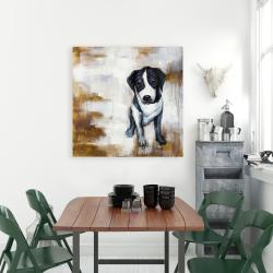 Canvas 36 x 36 - Sitting dog