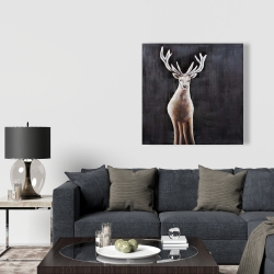 Canvas 36 x 36 - Lonely deer