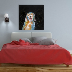 Canvas 36 x 36 - Abstract labradoodle