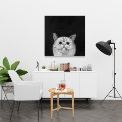 Canvas 36 x 36 - Watching cat