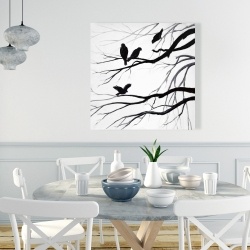 Canvas 36 x 36 - Silhouette of birds