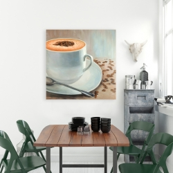 Canvas 36 x 36 - Cappuccino time
