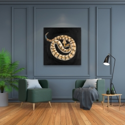 Canvas 36 x 36 - Southern timber rattlesnake