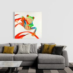 Canvas 36 x 36 - Red-eyed frog