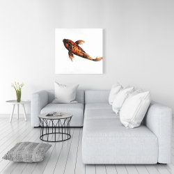 Canvas 36 x 36 - Red butterfly koi fish
