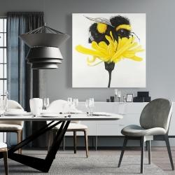 Canvas 36 x 36 - Bumblebee on a dandelion