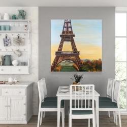 Canvas 36 x 36 - Eiffel tower by dawn