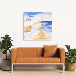 Canvas 36 x 36 - House on the beach