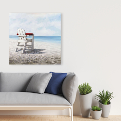 Canvas 36 x 36 - White beach chair