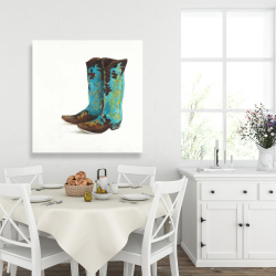 Canvas 36 x 36 - Blue cowboy boots