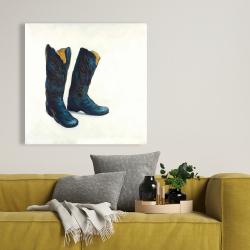Toile 36 x 36 - Bottes de cowboy de cuir