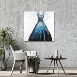 Canvas 36 x 36 - Blue princess dress