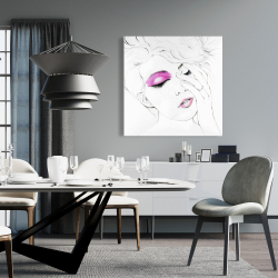 Canvas 36 x 36 - Pink makeup
