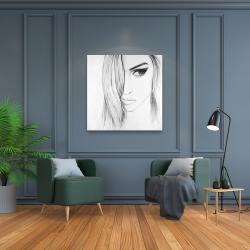 Canvas 36 x 36 - Black & white portrait