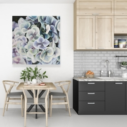 Canvas 36 x 36 - Colorful hydrangea flowers