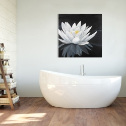Canvas 36 x 36 - Lotus flower with reflection