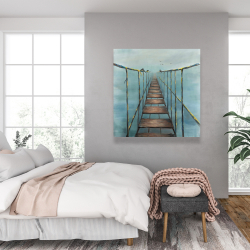 Canvas 36 x 36 - Old and dangerous bridge