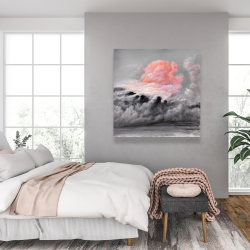 Canvas 36 x 36 - Pink clouds