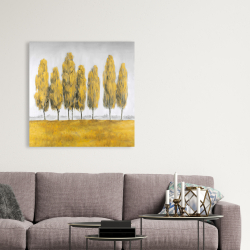 Canvas 36 x 36 - Abstract yellow trees