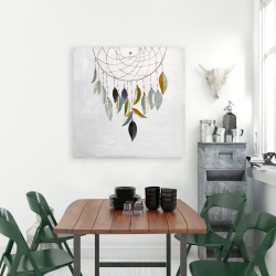 Canvas 36 x 36 - Dreamcatcher with feathers