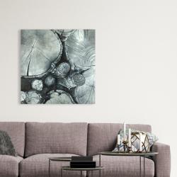 Canvas 36 x 36 - Textured wooden logs