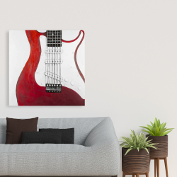 Canvas 36 x 36 - Red electric guitar