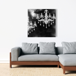 Canvas 36 x 36 - White chandeliers