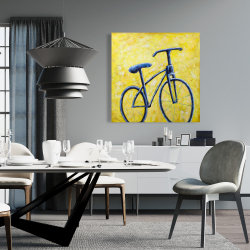 Canvas 36 x 36 - Blue bike abstract