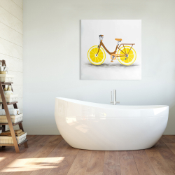 Canvas 36 x 36 - Lemon wheel bike