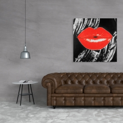 Canvas 36 x 36 - Pouty glossy lips