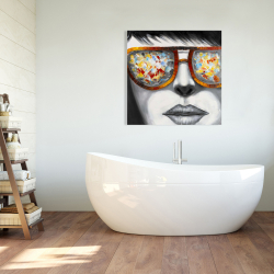 Canvas 36 x 36 - Colorful sunglasses