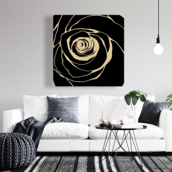 Canvas 36 x 36 - Black rose