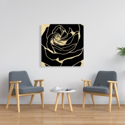 Canvas 36 x 36 - Cutout black rose