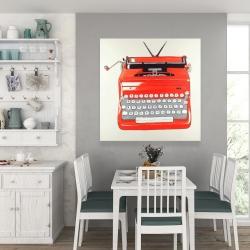Canvas 36 x 36 - Red typewritter machine