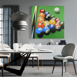 Canvas 36 x 36 - Pool table with ball formation