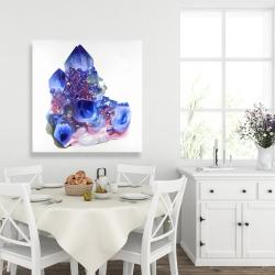 Canvas 36 x 36 - Blue and purple quartz cristal