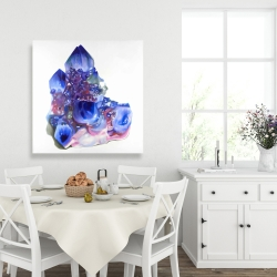 Canvas 36 x 36 - Blue and purple quartz cristal