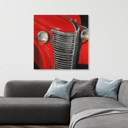 Canvas 36 x 36 - 50's car grid closeup