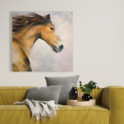 Canvas 36 x 36 - Proud steed with his mane in the wind
