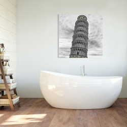 Canvas 36 x 36 - Tower of pisa in italy