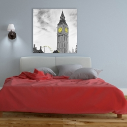 Canvas 36 x 36 - Outline of big ben in london