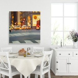 Canvas 36 x 36 - Blurred view of new york