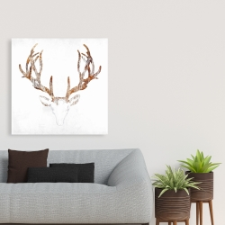 Canvas 36 x 36 - Wood looking deer head