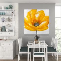 Canvas 36 x 36 - Beautiful yellow flower