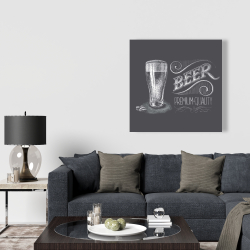 Canvas 36 x 36 - Vintage beer signboard