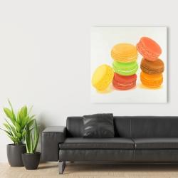 Canvas 36 x 36 - Delicious macaroons